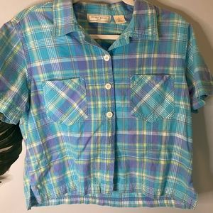 VINTAGE CROPPED BUTTON UP